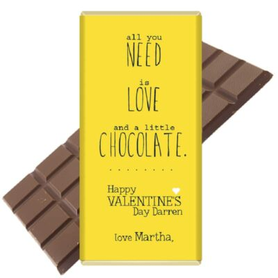 All-you-need-is chocolate personalised
