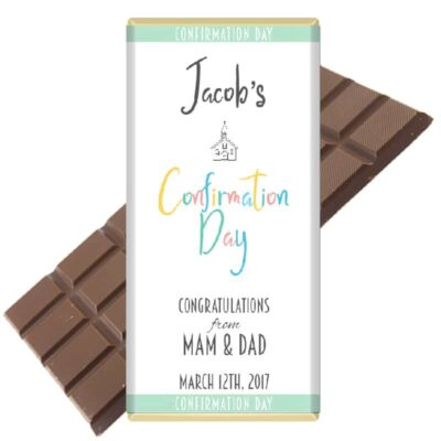 Communion Confirmation Personalised Chocolate Bar Design 2