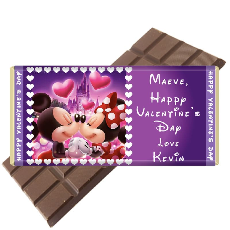 complete custom personalised valentines day chocolate bar