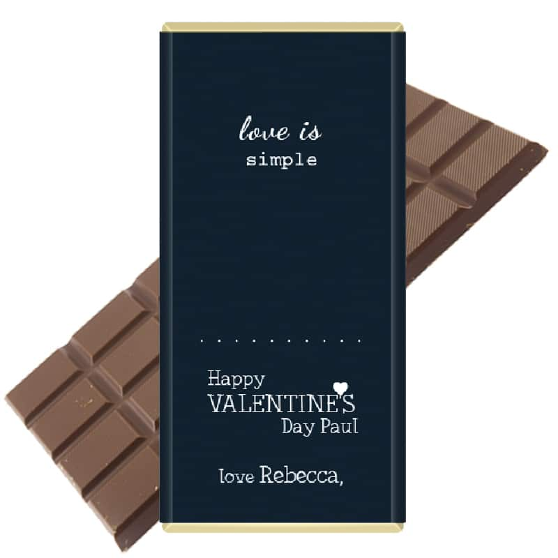 Love-is-simple-chocolate personalised