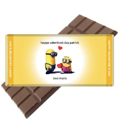 Minions-Valentine personalised chocolate