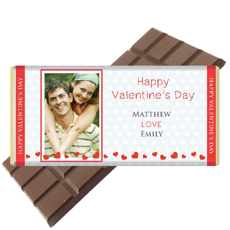 Photo-portrait personalised chocolate