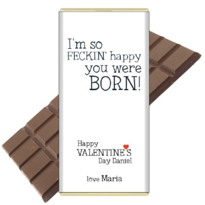 So-feckin-happy-personalised chocolate