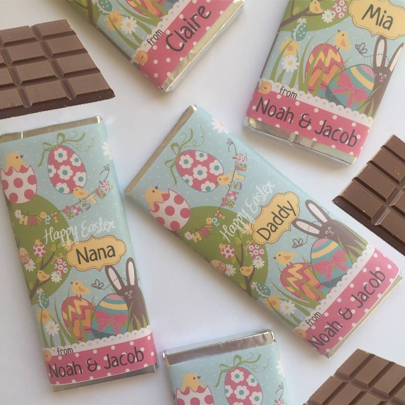 The Easter-Eggs-Chocolate Bar Personalised