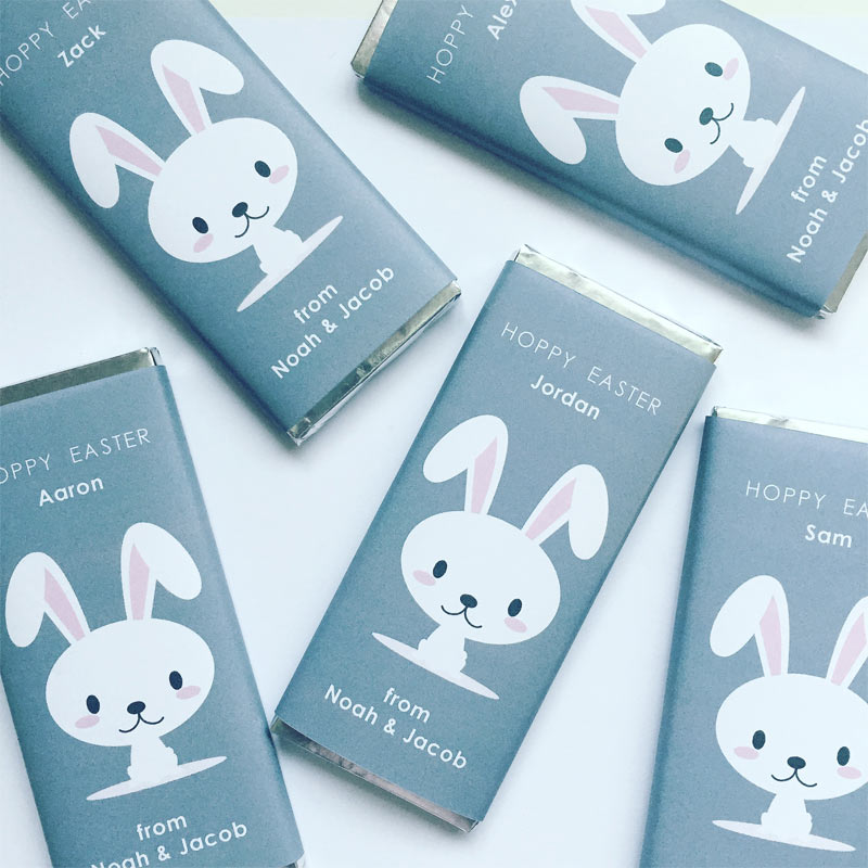 Hoppy-Easter-35g-Personalised Chocolate Bars