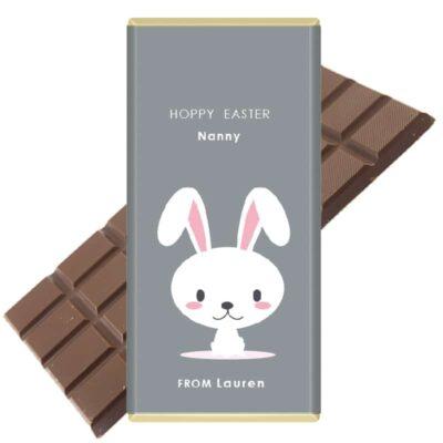 Hoppy-Easter-Personalised Chocolate Bar