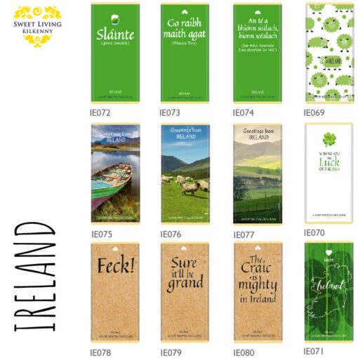 ireland irish chocolate bars