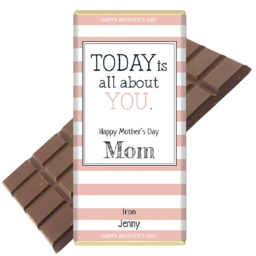 Today is all about you Mothers Day Chocolate Bar