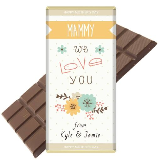 Mothers Day We-Love-you Chocolate Bar