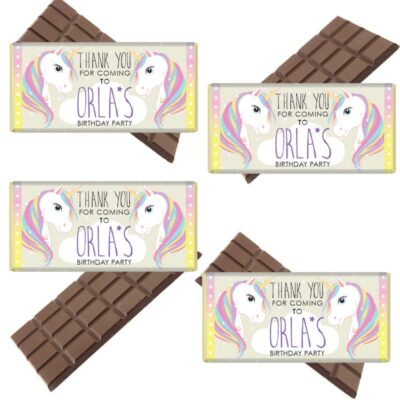 Unicorn Personalised Chocolate- Bar