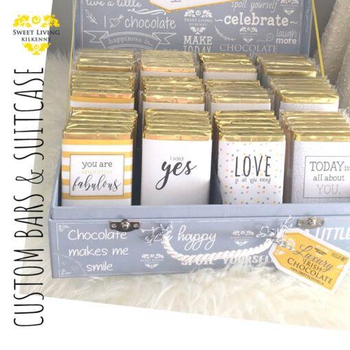 custom chocolate bars and display