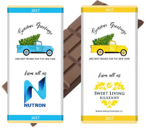 branded chocolate bars