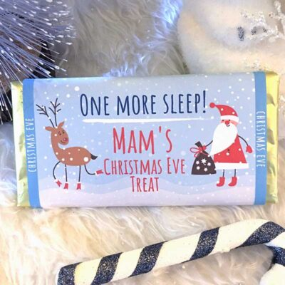 Christmas Eve Personalised Chocolate Bar
