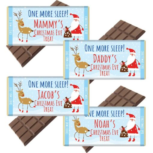 Christmas Eve Chocolate Bar packs
