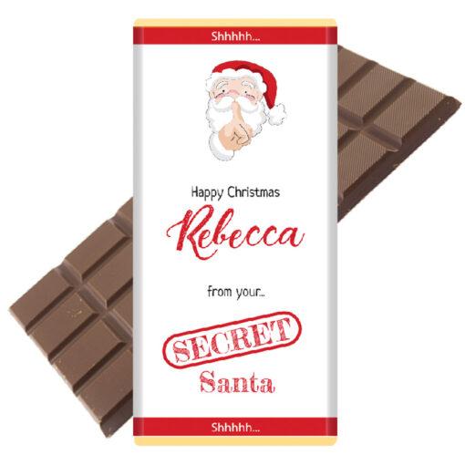 Secret Santa chocolate bar
