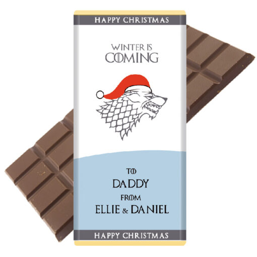 game of thrones personalised chocolate