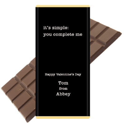 You complete me chocolate