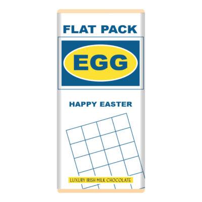 Flat Pack Easter Egg Chocolate Bar