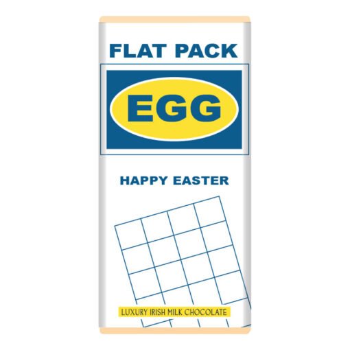 Flat Pack Easter Egg Chocolate Bar