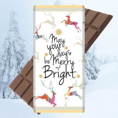 May your days be merry chocolate bar