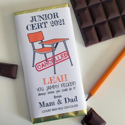 Junior Cert Cancelled 2021 Personalised Chocolate Bar