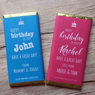 Personalised Birthday Chocolate Bar