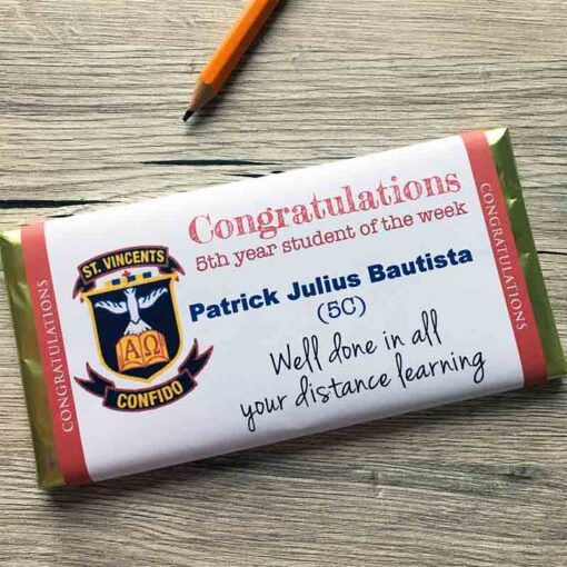 Class of 2020 Personalised Chocolate Bar