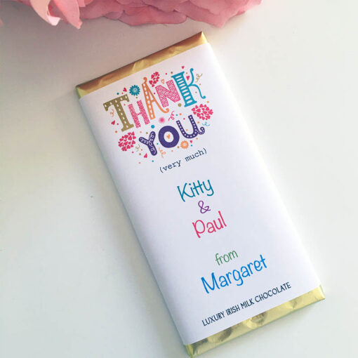 Thank You chocolate bar personalised