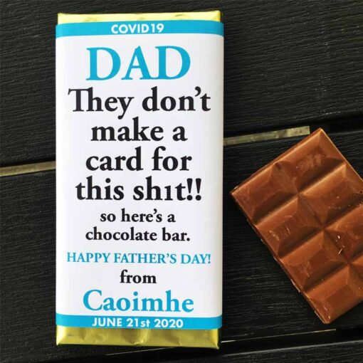 They don't make a card ... Dad Chocolate Bar
