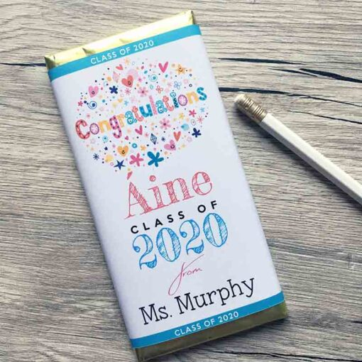 Class of 2020 Personalised chocolate bars