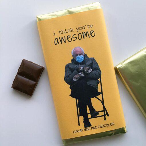 Bernie Sanders I think you're awesome Chocolate Bar