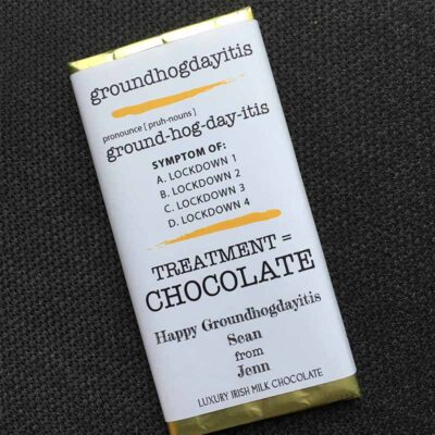 Groundhogdayitis Ground Hog Day Chocolate Bar Personalised