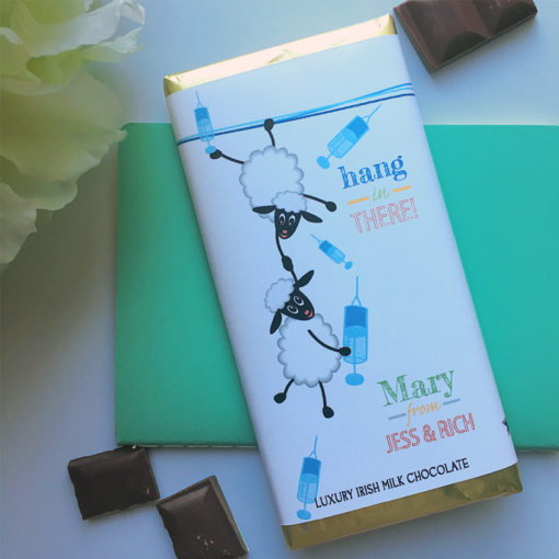 Hang in there Vaccine Chocolate Bar